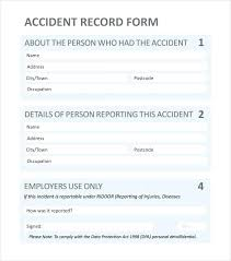 Work Incident Report Form Template