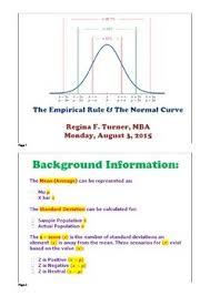 Z Scores Standard Deviation Empirical Rule Pdf By