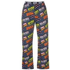 Character Pants Mens Marvel Comics Single Magazine Logo Characters Lounge