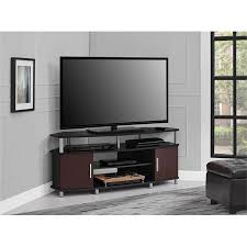 ameriwood home carson corner tv stand for tvs up to 50 tv stand e15 stand