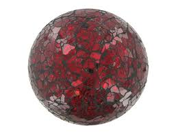 Red Glass Balls Decorative