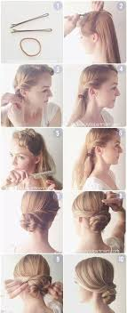 hair tutorials diy hair easy bun updos