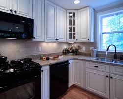Optimize Minimalist Concept with Black Kitchen Design : Kitchen Design  Black Appliances With Paprika And Corner