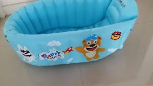 image of inflatable baby bathtub travel
