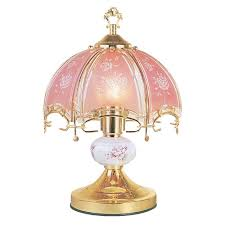fl brushed gold and pink touch lamp