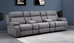 novell slim faux suede 3 cinema seating