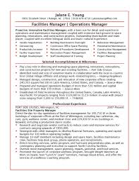 Facility Operations Manager Sample Resume Facility Operations Manager Sample Resume shalomhouseus 1