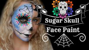 sugar skull day of the dead face paint make up tutorial you