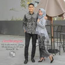 Pilih kebaya kutu baru dan kemeja batik hitam kombinasi cokelat. Couple Kebaya Batik Modern Outfit Kondangan Batik Kekinian Shopee Indonesia