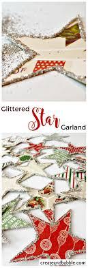 Handmade Holiday - Glittery Star Christmas Garland