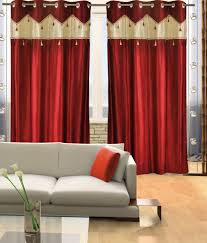 Maroon Curtains For Living Room Home Candy Set Of 2 Door Eyelet Curtains Contemporary Red Buy