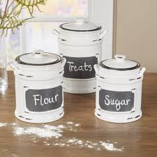ceramic canisters set of 4 white rustic kitchen canisters kitchen throughout rustic kitchen canister sets pertaining