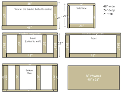 custom diy garage overhead cabinet plans using plywood and ceiling bracket ideas
