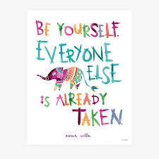 Sale Quote Be Yourself Art Print