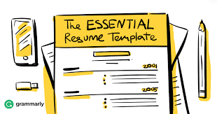 Resume Writing Template Extraordinary The Essential Résumé Template Grammarly Blog