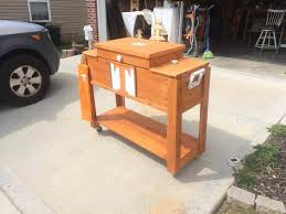 handcrafted pallet outdoor ice chest