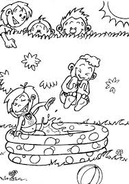 Small Picture Coloring Pages For Kids In The Summer Playing Water Season