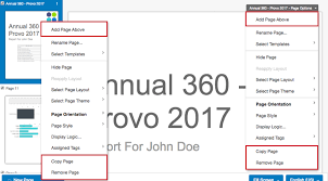 Copy Page Report Pages 360 Qualtrics Support