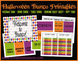 Bunco Score Sheets Template New Halloween Bunco Printables