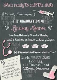 Nursing Graduation Party Invitations Medical Or Nursing School Graduation Party Invitation