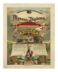 masonic diploma vintage master mason art print like this item