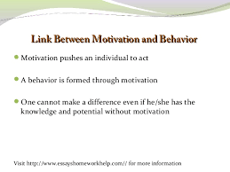 sample explanatory essay the concept of motivation