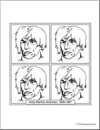 Small Picture Clip Art Artists Andy Warhol coloring page I abcteachcom