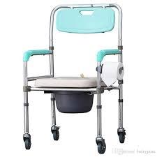 wheelchair toilet chair elderly stroke hemiplegia handicapped disabled people bathing chair pregnant woman shower chair 4 wheels wheelchair bathing chair