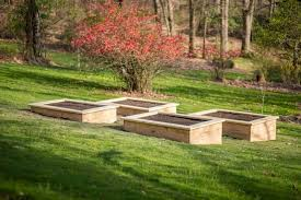 to build raised garden beds on a slope