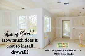 average drywall installation cost