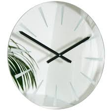 Small Picture Glass wall clock uk