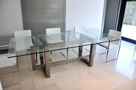 Dining Table  Stainless Steel Top Wood Dining Table Modern Glass Stainless Steel Top Dining Table
