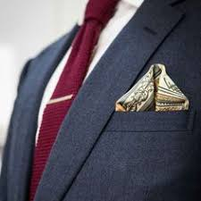 Image result for the winged puff pocket square fold