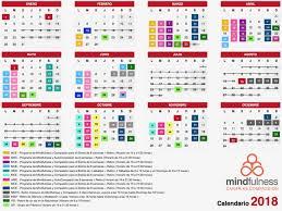 Calendario Actividades Conscientes 2018 Mindfulness Canarias
