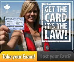 - License Craft Operator Boating Test Card Pleasure Ontario Online