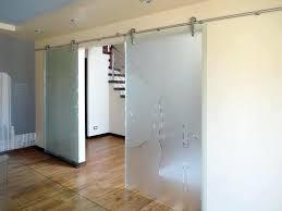 glass barn door view larger image etched sliding doors frosted interior glass barn door