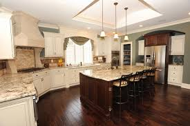 Houzz Kitchens With White Cabinets Best Blue Kitchen Cabinets