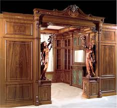 wall panel boiserie with carved