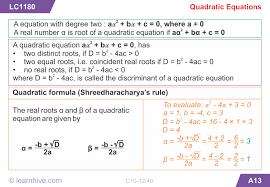 mathematics quadratic equations
