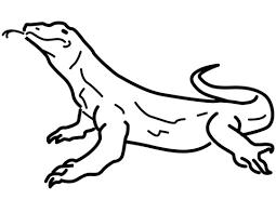Plan Komodo Dragon Coloring Page Simplesnackstop