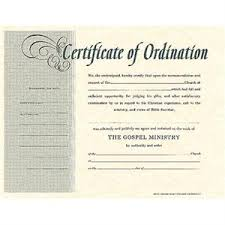 blank ordination certificates ministers ordination certificates package of 6