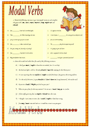 Modal Verbs Worksheet Free Worksheets Library | Download and Print ...