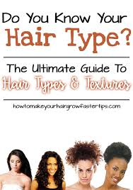 Hair Texture Chart Black Hair The Ultimate Guide To Hair Types And Textures How To Make