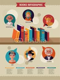 vector reading books infographics set of flat icons