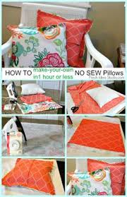 how to make your own super easy no sew pillow cover in 1 hour or less