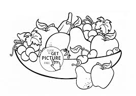 Small Picture Big Bowl of Fruits coloring page for kids fruits coloring pages