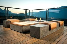 modern concrete patio furniture. Modern Concrete Furniture Benches Garden . Patio R