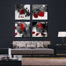 canvas wall art ideas elegant 20 inspirations of black white and red wall art