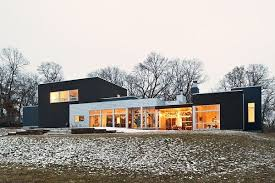 A ranch tranformed into a modern residence in Minnesota