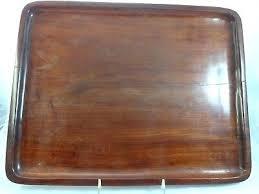 2 vintage mahogany trays distressed wooden tray set dark wood white table